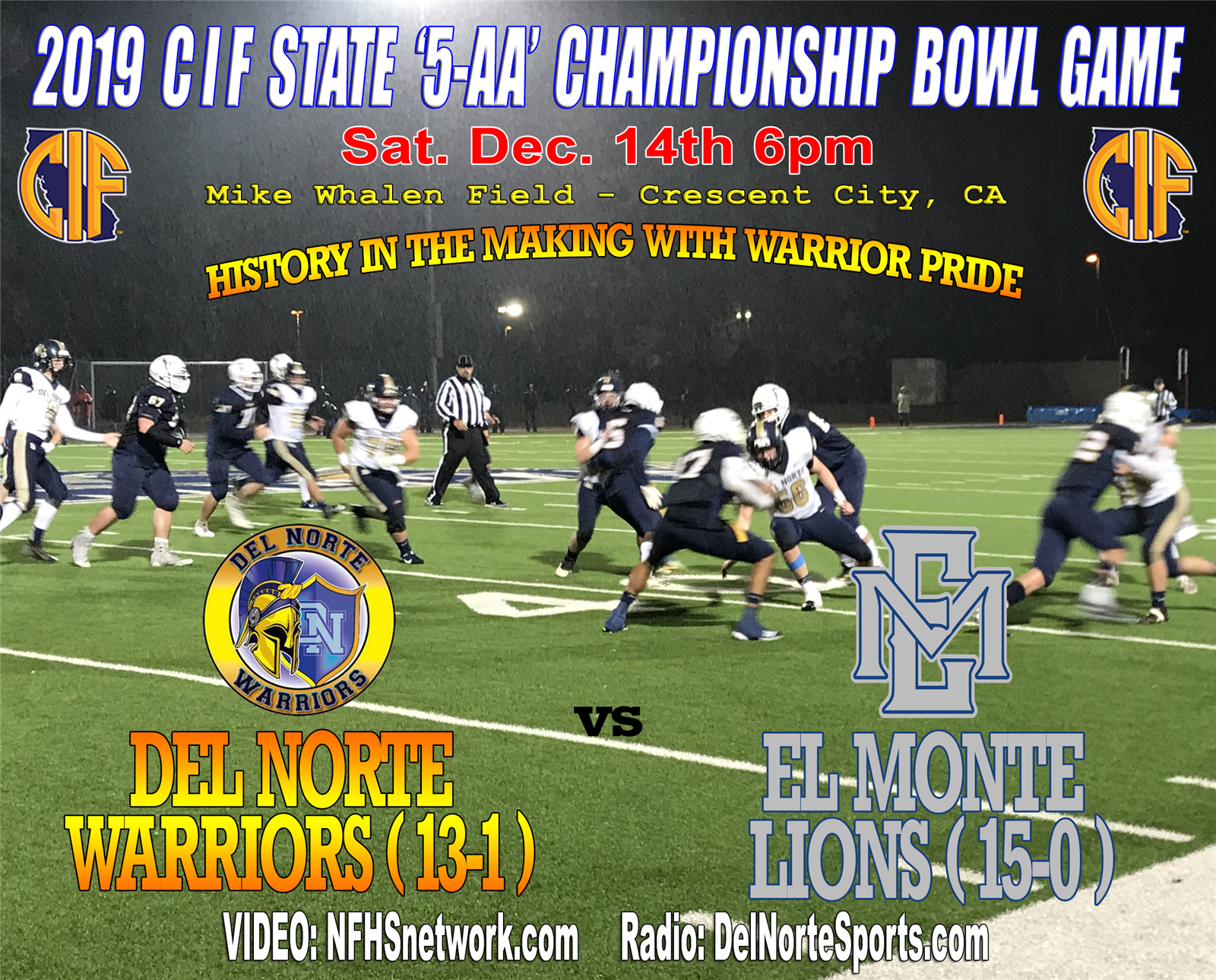 Purchase DNHS Warriors State Championship Tickets Now